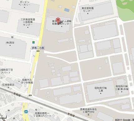 HP昭島工場地図